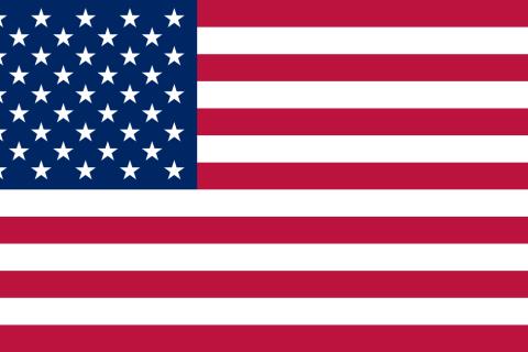 USA baniera a stelle e strisce