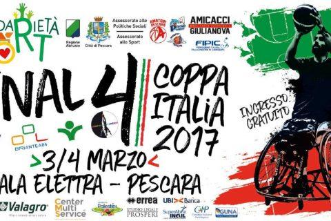 locandina final four di coppa italia di basket