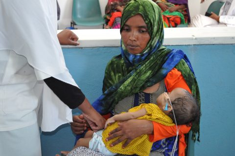 Somalia una donna con bambino