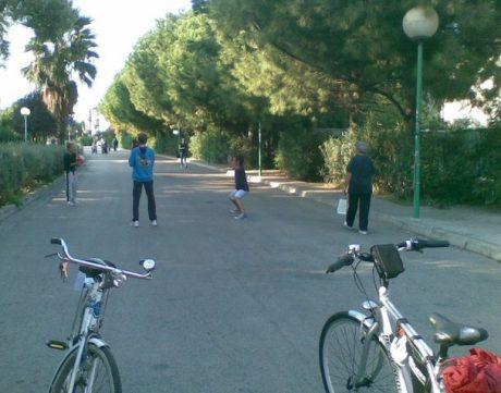 Strada parco prima dei nuovi interventi