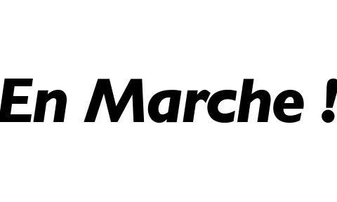 il logo di en marche! il movimento di Macron