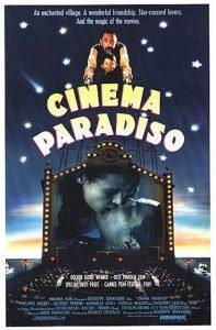 locandina del film di Giuseppe Tornatore Nuovo Cinema Paradiso