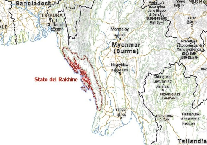 Stato Rakhine nel Myanmar