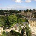 Città del Lussemburgo panorama da pont Chateau