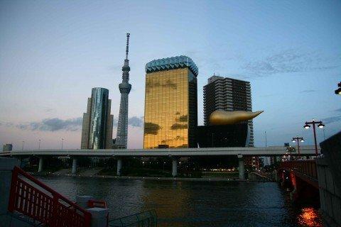 Giappone grattacielo Asahi e Tokyo Sky Tree