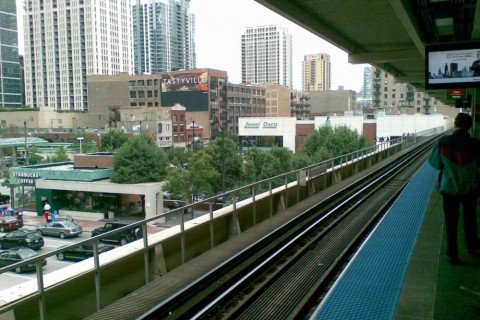 USA Chicago roosvelt red line