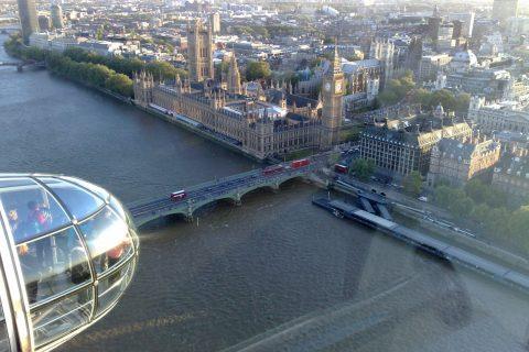 Londra panorama da elicottero