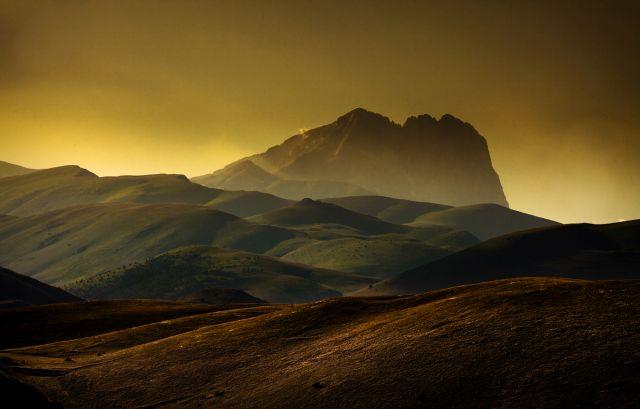 Gran Sasso tramonto Corno Grande