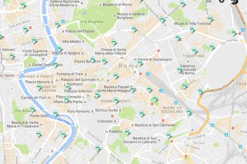 car sharing città mappa
