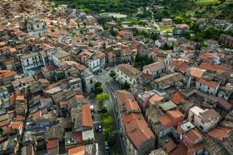 Pratola Peligna veduta aerea Foto Luciano e Guido Paradisi
