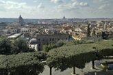 Panorama di Roma dai giardini dell'Accademia di Francia foto 2017