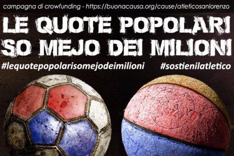 il manifesto della campagna crowdfounding dell'Atletico San Lorenzo