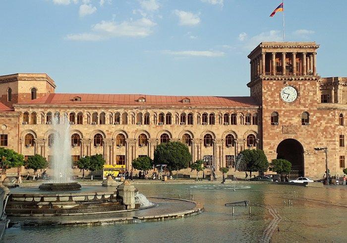 Piazza della Repubblica a Yerevan in Armenia