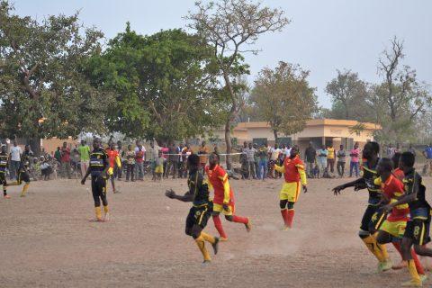Partita di calcio in Benin
