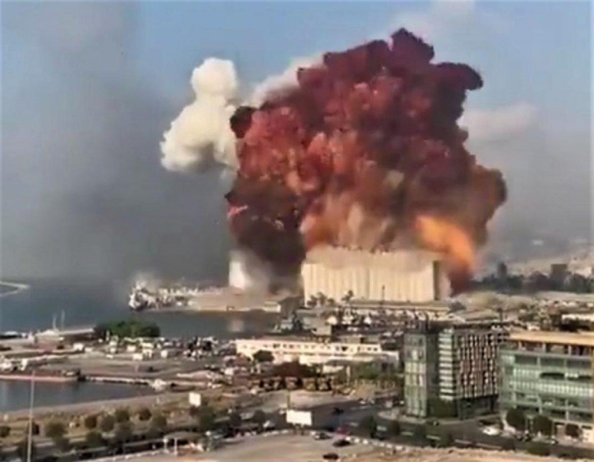 libano beirut esplosione