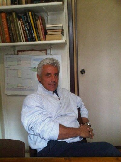 Luigi Rossi  nella sede di Pane Quotidiano