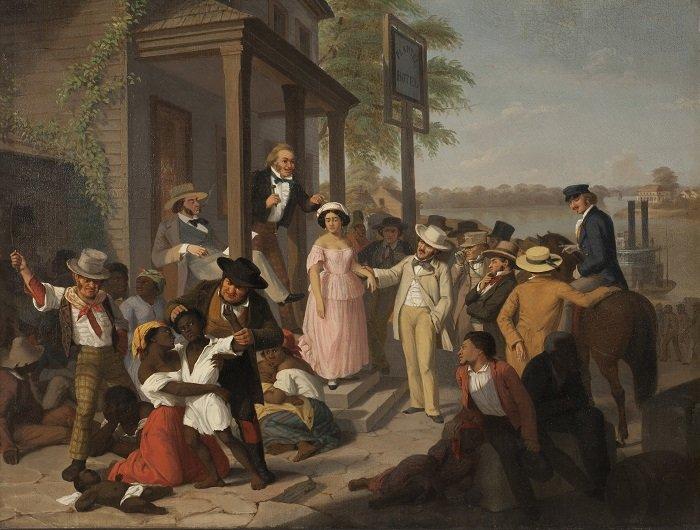 François Auguste Biard mercato schiavi