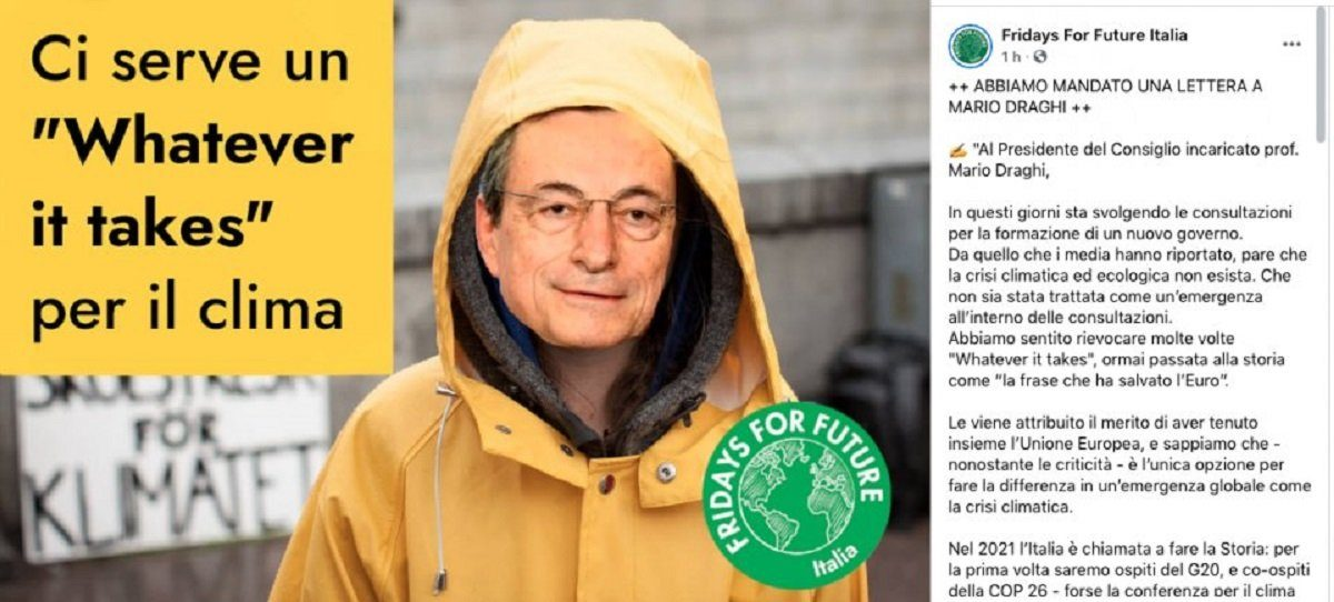 Fridays for Future lettera Mario Draghi 2021