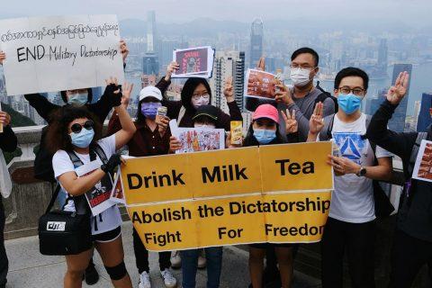Myanmar manifestanti