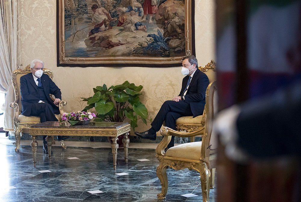 Sergio Mattarella Mario Draghi